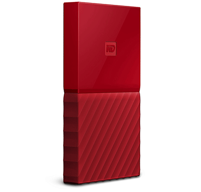 WD My Passport 1TB USB 3.0 Portable External Hard Drive (Red)
